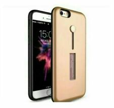 Vivo Y71 Mobile Phone Shell Case With Ring And Stand - GOLD