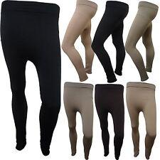 New Ladies Full Stretch Thermal Leggings Plain Skinny Jeggings Leg Warmers 8-14