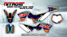 KTM SX 65 2009 2010 2011 2012 2013 2014 2015 Graphics Kit Decal Design Stickers