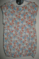 Ladies floral top blouse t-shirt bubble hem size 8 from New Look