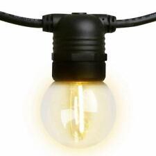 Jingle Jollys 50m LED String Lights 50 Bulbs Festive (LIGHT-B-G45-50-WW)