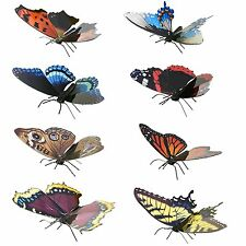 Set of 8 Fascinations Metal Earth BUTTERFLY 3D Laser Cut Steel Puzzle Model Kits