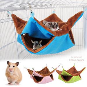 Pet Ferret Hammock Thick Plush Squirrel Mouse Hamster Rat Sleeping Bed Bag Nest