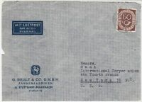 Germany Stuttgart Color Factory 1952 Posthorn Stamps Cover to New York Ref 32291