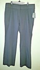 New W/Tags HALO Size 16 Slacks Pants Heather Gray Wide Waistband