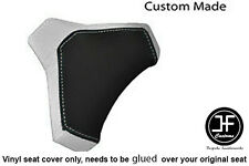BLACK & WHITE VINYL CUSTOM FITS DUCATI 848 1098 1198 SEAT COWL PAD COVER ONLY