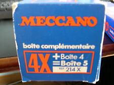 Meccano - Boîte complémentaire bleue n° 214X  complète.