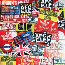 100 X Pegatinas Bufanda Camisa inspirado en Arsenal insignia bandera Highbury AFC