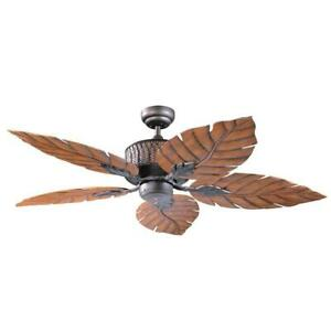 Designers Choice Fern Leaf 52 in. Indoor/Outdoor Oil Rubbed Bronze Ceiling Fan