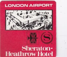 England London Sheraton Heathrow Hotel Vintage Luggage Label lbl0244