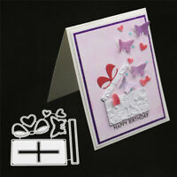 Stanzschablone Geschenk Schmetterling Weihnachten Geburtstag Hochzeit Karte DIY