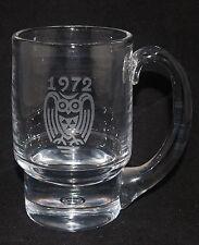 VINTAGE KOSTA BODA ART GLASS CRYSTAL MUG VICKE LINDSTRAND ETCHED 1972