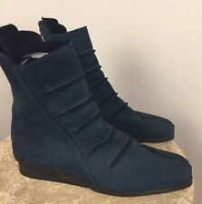 ARCHE EU 41 Womens Size 10 10.5 Ankle Boots Teal Blue Nubuck Leather