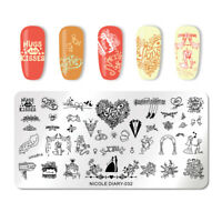 NICOLE DIARY Stamping Plate Valentine's Day Series Nail Art Stamp Image Template