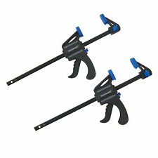 2 PACK x 150mm QUICK RELEASE RATCHET BAR CLAMP STRONG LIGHT WEIGHT CLAMPS
