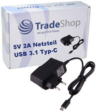 Netzteil Ladekabel 5V 2A USB 3.1 Typ-C für TrekStor SurfTab11.6 LTE 11.6 WiFi