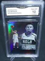 2019-20 Chronicles Zion Williamson Essentials Rookie Card GMA Graded Gem Mint 10