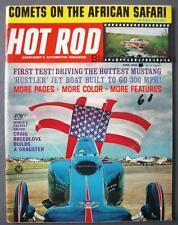 Orig June 1964 Hot Rod Magazine Vol 17 No 6 Hustler Jet Boat, Hottest Mustang