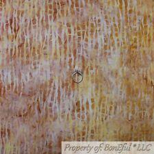 BonEful Cotton Quilt VTG Brown Yellow Gold Tone Tonal Natural Bamboo LAST SCRAP