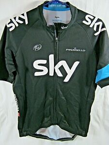 Mens XL Rapha Team Sky Club Jersey Cycling Bicycle Bike (P21)