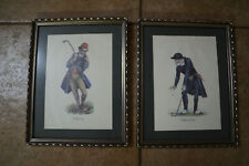 4 Norman Orr prints. 2 each of the Classic Golf and Fishing