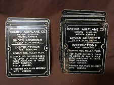 Boeing Stearman PT-17/N2S Original Phenolic Instruction Plate