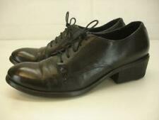 Women's 7 B M Frye 74200 Carson Oxfords Shoes Black Leather Lace-Up Dress Casual