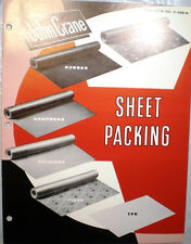 JOHN CRANE Sheet Packing Catalog ASBESTOS Gaskets 1960's Military Specifications