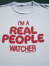 rare vintage I'm a REAL PEOPLE watcher SMALL T-SHIRT vtg
