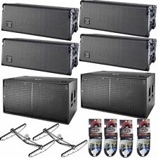 "DAS Audio EVENT 208A 4x Powered Line Array Speakers 2x 218A Dual 18"" Subs"