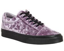 VANS Old Skool (Velvet) Sea Fog Black Men's Skate Shoe Size 9.5