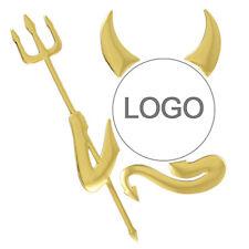 Gold Metallic VW 3D Devil Sticker / Badge T4 T5 Golf Polo GTi Touran Tiguan Dub