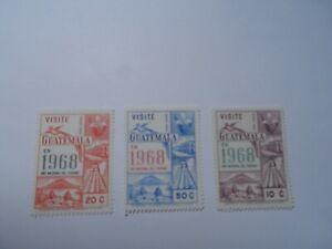 Discount Stamps : GUATEMALA 1968 SC#C418-C420 3v MNH TOURISM AIR MAIL SET