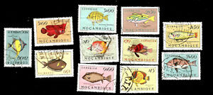 Exotic Fish from Africa Portuguese Mozambique Stamps