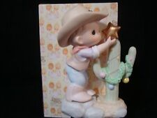 Precious Moments-COWBOY-Warmest Wishes For The Holidays-Retired 2001