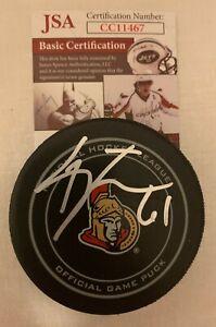 Mark Stone signed Ottawa Senators Official Game Puck autographed JSA