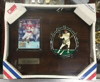 Joe Montana Ltd Edi Pro Set Football Card & Wall Clock Chiefs NFL Chaney Clock