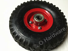 PAIR Hand Trolley PNEUMATIC Wheels 10 inch Heavy Duty (16mm) Shaft-Brand New