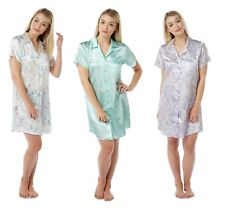 LADIES SATIN  PAISELY/STAR/BUTTER NIGHTSHIRTS  NIGHTDRESS by INDIGO SKY(IN11364)