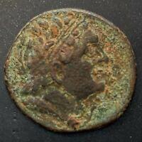 ANCIENT GREEK COIN; PTOLEMY II PHILADELPHOS 285-246 B.C. KYRENE MINT!