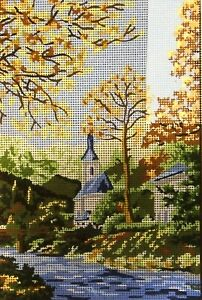 """""""Scenery"""" Printed Needlepoint Tapestry  Canvas 6129"""