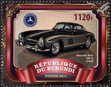 1954 MERCEDES BENZ 300SL Gullwing  Coupe Classic Sports Car Stamp (2017 Burundi)