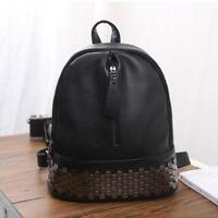 Women Backpack from Faux Leather Travel Preppy Style Rivet Bag Ladies Rucksack