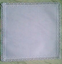 14 count aida Table Centre to cross stitch plain square with cotton lace edge