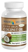 Fat Burner Pills - Coconut Oil Capsules - Healthy Hair - 1 Bottle 60 Softgels