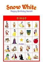 Snow White Birthday Party Game & Activity Bingo Cards