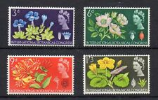GB 1964  BOTANICAL CONFERENCE  SG 655 to 658 m/m