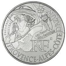 10 euros des régions personnages en argent Provence Alpes Côte d'Azur PACA 2012