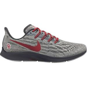 NEW Nike Air Zoom Pegasus 36 Oklahoma Sooners CI2075-001 Men's Size 10 Red/Gray