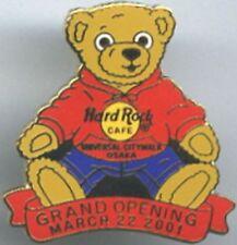 Hard Rock Cafe OSAKA CITYWALK 2001 GRAND OPENING PIN Teddy Bear GO - HRC #7162